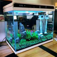 森森(SUNSUN)HE480森森超白玻璃小鱼缸客厅 小型桌面家用水族箱 生态免换水金鱼缸