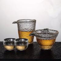 kavar 米良品 耐热玻璃 锤纹茶具套装