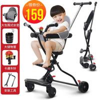 婴儿推车溜娃神车遛娃神器儿童轻便一键折叠夏季双向四轮车 双向静音款