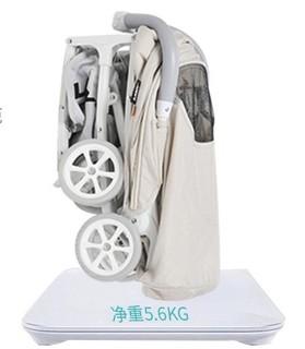 LAMY 凌美 AIR-mini 可折叠轻便四轮推车 米色