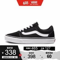 Vans范斯 运动休闲系列 Ward板鞋运动鞋低帮女子黑色新款官方 黑色 36