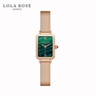 Lola Rose手表女时尚防水石英女士手表正品方形小绿表