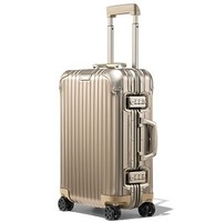 RIMOWA ORIGINAL系列纯色万向轮锁扣双杆旅行箱 香槟金20寸