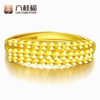 六桂福(LUK KWAI FOOK)黄金戒指 夺目 黄金戒指 BN0882 3.6-3.69g *2件