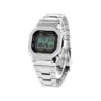CASIO 卡西欧 全金属系列 GMW-B5000D-1ER 男士太阳能手表 43.2mm 不锈钢表盘 不锈钢表带 方形