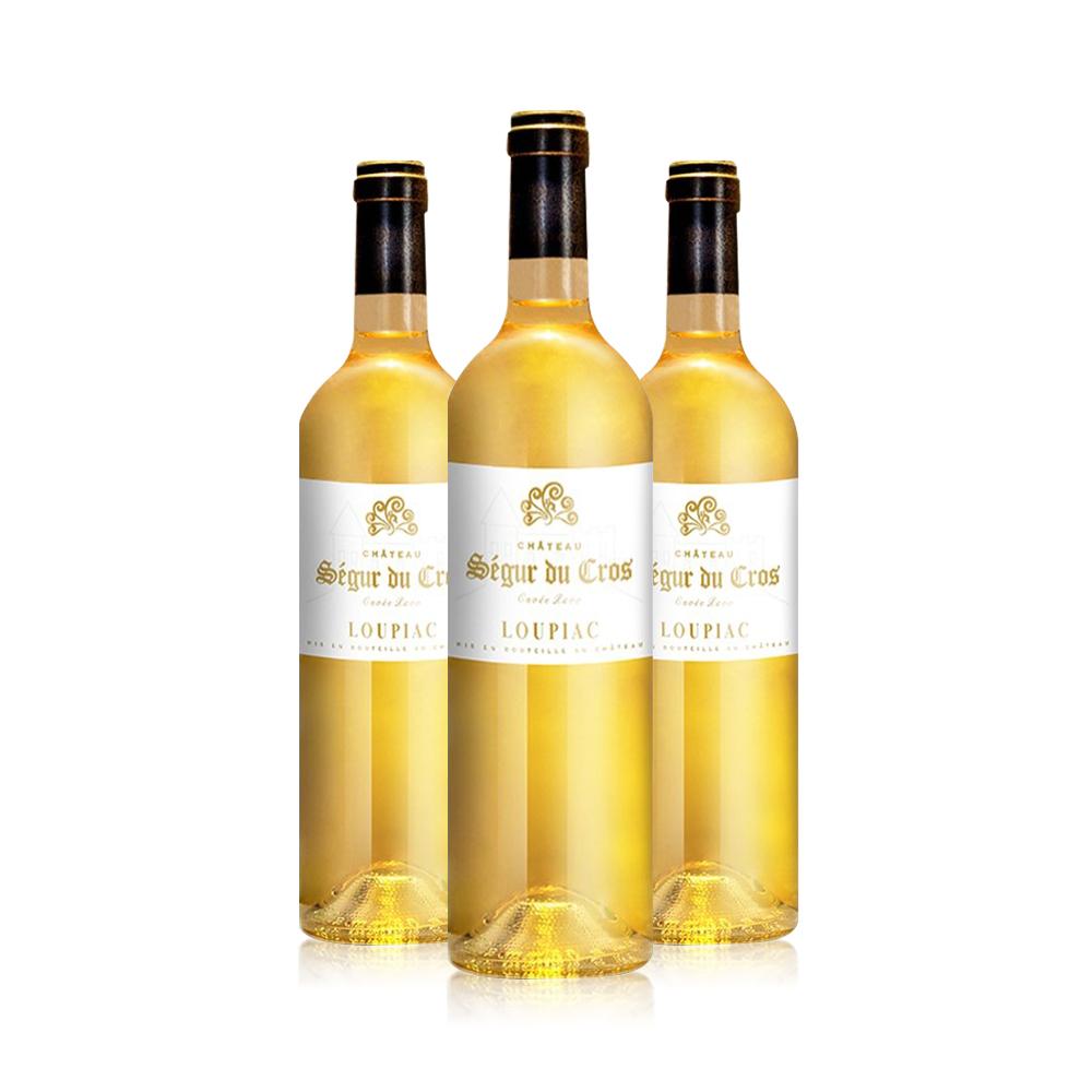 88VIP、61预售 : chateau du cros loupiac 白酒葡萄酒 750ml*3