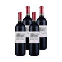 61预售、88VIP:LOS VASCOS 巴斯克 珍藏级干红葡萄酒(特级珍藏 浮雕重瓶) 750ml*4支装