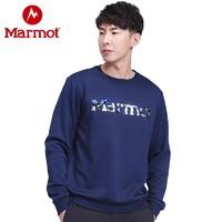 Marmot 土拨鼠 男女加绒圆领卫衣保暖T恤