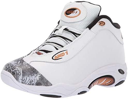 AND1 篮球鞋 TAICHILX White/Mixtape Graffiti/Copper 9 M US