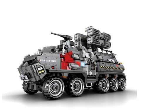 SEMBO BLOCK 森宝积木 益智拼装玩具工程车运兵车