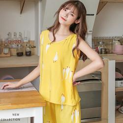 爱上另外一个自己 夏季无袖棉绸睡衣套装 多款可选