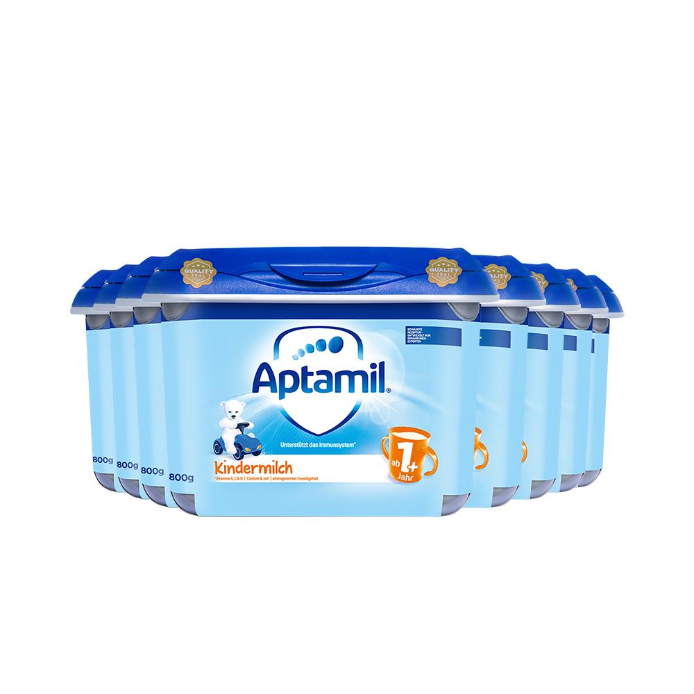 618预售:【直营】德国爱他美幼儿配方奶粉1+段安心罐一岁及以上 800g*8罐