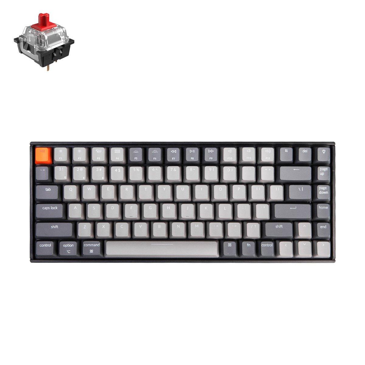 Keychron K2 84键全功能无线机械键盘, 专为MacOS优化