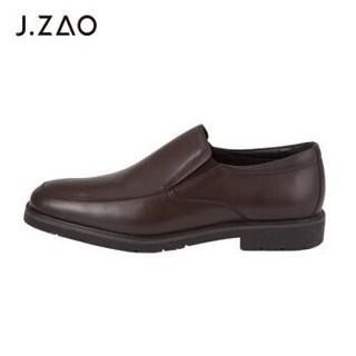 J.ZAO 京东京造 男士一脚蹬皮鞋