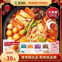 清净园韩式泡菜部队火锅芝士年糕方便速食套餐韩国料理食材组合
