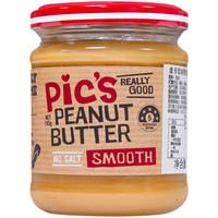 皮卡思pics花生酱 幼滑195g 天然无添加盐抹面包拌面酱蘸酱 新西兰原装进口