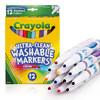 绘儿乐crayola 水彩笔可水洗12色彩色细头绘画笔儿童安全58-7813 *3件