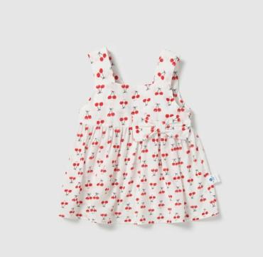Mini Balabala 迷你巴拉巴拉 女童连衣裙 M0112190209 白红色 80cm