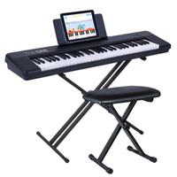 The ONE智能电子琴AIR新品 61键电子钢琴 成人儿童初学乐器 蓝牙多功能 黑色+琴架+琴凳