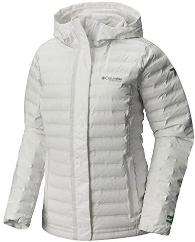 Columbia 女士 OutDry Ex 环保羽绒夹克,中号,白色,未染色