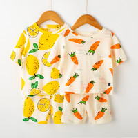 Oissie 奥伊西 儿童家居服套装 80cm(柠檬+萝卜)