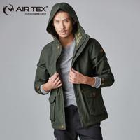 AIRTEX 亚特 AT1A18M9029-BTW 男士户外冲锋衣