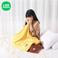 LINE FRIENDS布朗熊居家毛毯 卡通动漫周边时尚柔软舒适毛毯 莎莉 1000×700×10mm