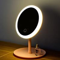 LISM led带灯桌面台式梳妆镜 充电款圆形单色光 1200mA