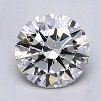 Blue Nile 0.50克拉 圆形切割钻石 非常好切工 G级成色 VS2净度
