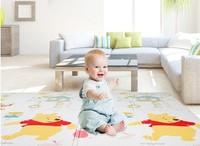 Disney 迪士尼 爬行垫加厚宝宝折叠爬爬垫XPE双面婴儿爬行地垫 维尼有约+字母乐园180*200*2cm