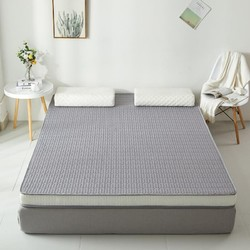 初意 乳胶记忆棉床垫 浅灰色 90*200*6cm