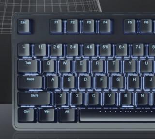 iKBC R300 机械键盘 黑色 茶轴 白色背光