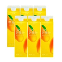 鲜纯乐 100%芒果汁 1kg*6盒