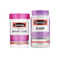 Swisse 瑞思 營養素組合裝 280片(葡萄籽片 180片+睡眠片 100片)