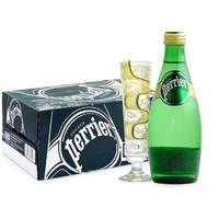 Perrier 巴黎水 含气天然矿泉水 330ml*24瓶