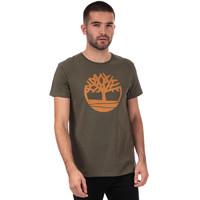 凑单品、银联专享:Timberland 添柏岚 Brand Tree Logo 男士T恤