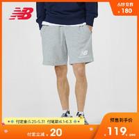 New Balance NB官方2019新款男针织短裤AMS91584休闲短裤