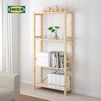 IKEA宜家IVAR伊娃三层搁架89x30x179松木乡村储藏室