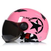 WUPP男女通用电动摩托车头盔B款红色均码