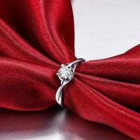 鸣钻国际 ZJKK028 钻石戒指(40分效果 H色 切工很好)