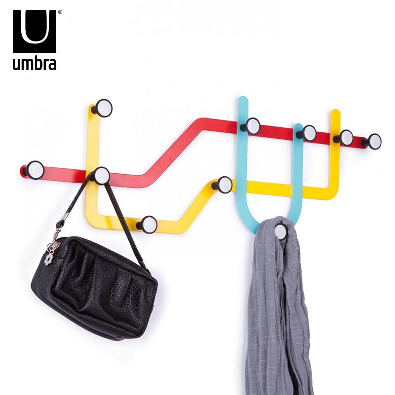 umbra不銹鋼墻面掛鉤創意壁掛歐式簡約鐵藝飾品衣帽掛衣鉤壁掛