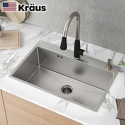 Kräus 克劳思 CKHT100-5843 304不锈钢 厨房单槽 580*430*220mm