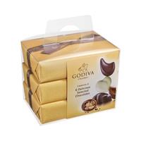 88VIP:Godiva 歌帝梵 精选巧克力金色礼盒生日送礼(6粒*3盒) *2件