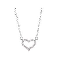 ARMASA 阿玛莎 S925银纯银心形项链
