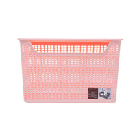 禧天龙Citylong 24L桌面带盖收纳盒环保塑料收纳篮杂物收纳筐樱花粉2支装 7137 *2件