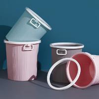 佳易洁 家用简约中号垃圾桶 235*250*185mm 颜色随机