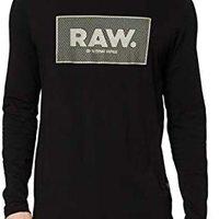 G-STAR RAW 男士纯棉印花长袖T恤 D16386