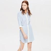 Purcotton 全棉时代 4100182501 夏季纯棉女士衬衫裙