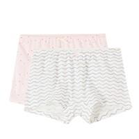 Purcotton 全棉时代 2000250003 纯棉印花平角裤 2条装