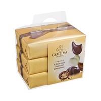 Godiva 歌帝梵 精选巧克力金色礼盒生日送礼(6粒*3盒) *2件